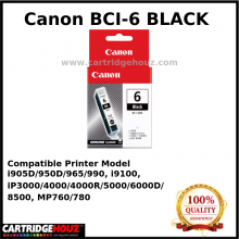 Canon BCI-6 (Black) (14 ml) ink For i905D/950D/965/990, i9100, iP4000/4000R/5000/6000D/8500, MP760/780
