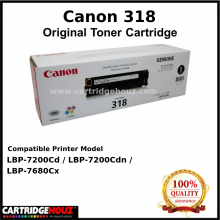 (Optional Color ) [ GENUINE ] Canon Cart 318 Toner For LBP-7200Cd / LBP-7200Cdn / LBP-7680Cx