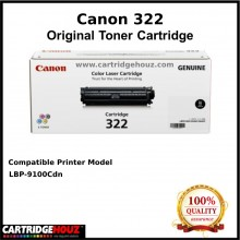 (Optional Color ) [ GENUINE ] Canon Cart 322 (6.5K pgs) Toner For LBP-9100Cdn Printer
