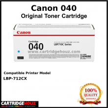 Canon Cart 040 (Cyan) (5.4K pgs) Toner For LBP-712Cx Printer
