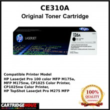 ( Optional Color ) [ GENUINE ] HP CE310A / CE311A / CE312A / CE313A (126A) Toner For HP CLJ CP1025/ PRO 100 MFP M175 / MFP M275 Printer