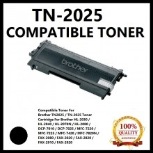 Compatible Brother TN2025 / TN-2025 Toner Cartridge (TN-2025) for Brother HL-2030 / HL-2080 / HL-2070N MFC-7220 / MFC-7420 / MFC-7820N DCP-7010  Fax-2820