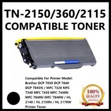 Compatible Brother TN2150 / TN-2150 Toner Cartridge for Brother DCP 7030 / DCP 7040 / DCP 7045N / MFC 7320 / MFC 7340 / MFC 7450 / MFC 7440N / MFC 7840N / MFC 7840W / HL 2140 / HL 2150N / HL 2170W Printer