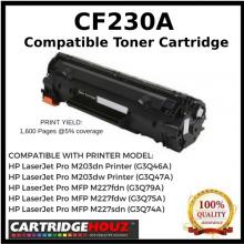 Compatible HP CF230A(30A)(1.6K)Toner Cartridge For HP LaserJet Pro M203dn Printer/HP LaserJet Pro M203dw Printer/M203d HP LaserJet Pro MFP M227fdn/ HP LaserJet Pro MFP M227fdw/HP LaserJet Pro MFP M227sdn