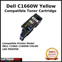 Compatible Dell C1660w / C1660 Yellow Toner Cartridge (1K PGS) for DELL C1660/ C1660W COLOR LED PRINTER