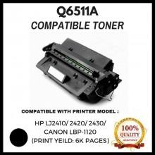 Compatible  Q6511A / 11A / Q6511 Toner  For HP LaserJet 2410 / 2420 / 2420d / 2420n / 2420dn / 2430t / 2430tn / 2430dtn / 2430n  Printer