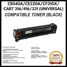 [ Optional Color ] Compatible HP CB540A (125A) / CE320A (128A) / CF210X(1131X) / CF210A(131A) / CANON 316 / 416 /331 Toner