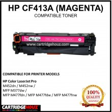 Compatible HP CF413A (410A) (Magenta) Laser Toner Cartridge for HP Color LaserJet Pro M452dn / M452nw / MFP M377dw / MFP M477fdn / MFP M477fdw / MFP M477fnw Printer