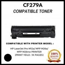 Compatible HP CF279A / CF279 / 279A (79A) Toner Cartridge For HP LaserJet Pro M12a / M12w / MFP M26a / MFP M26nw Printer